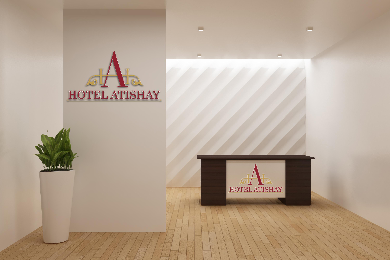 hotel reception logo mockup